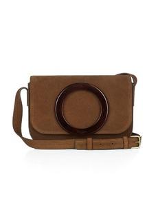 Yves Saint Laurent Saint Laurent Eddie tortoiseshell suede satchel cross-body bag
