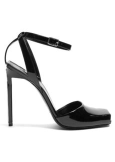 Saint Laurent Edie patent-leather sandals