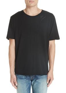 Yves Saint Laurent Saint Laurent Embroidered Logo T-Shirt