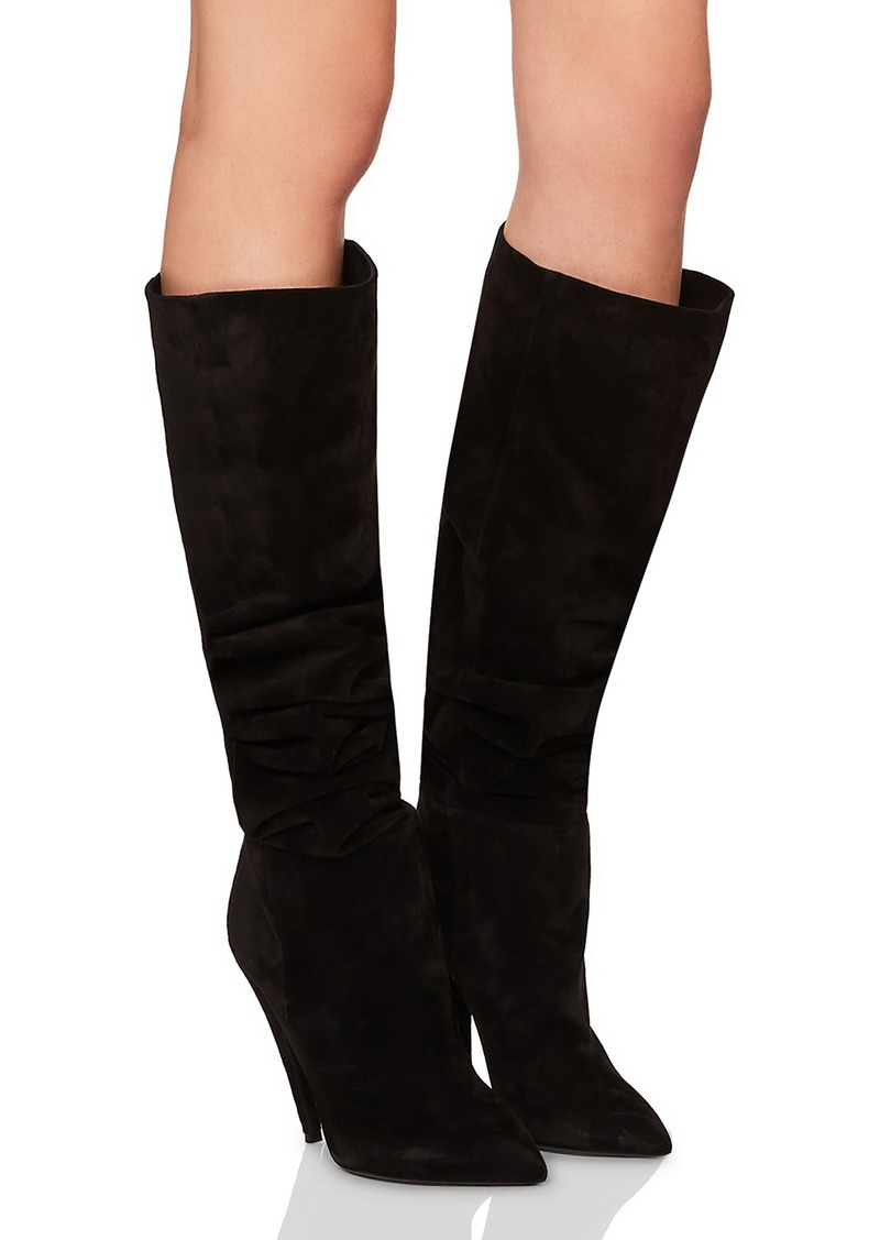 Saint LaurentSuede Era Heeled Thigh High Boots in . if1mghzrVI