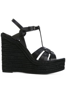 Yves Saint Laurent Saint Laurent Tribute espadrille wedge sandals - Black