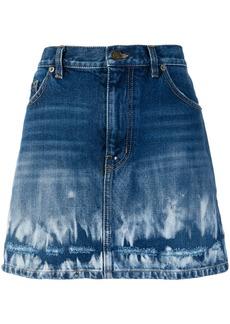Yves Saint Laurent Saint Laurent fade effect skirt - Blue