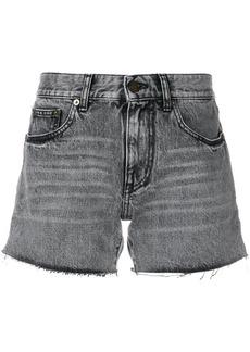 Yves Saint Laurent Saint Laurent faded mini shorts - Grey