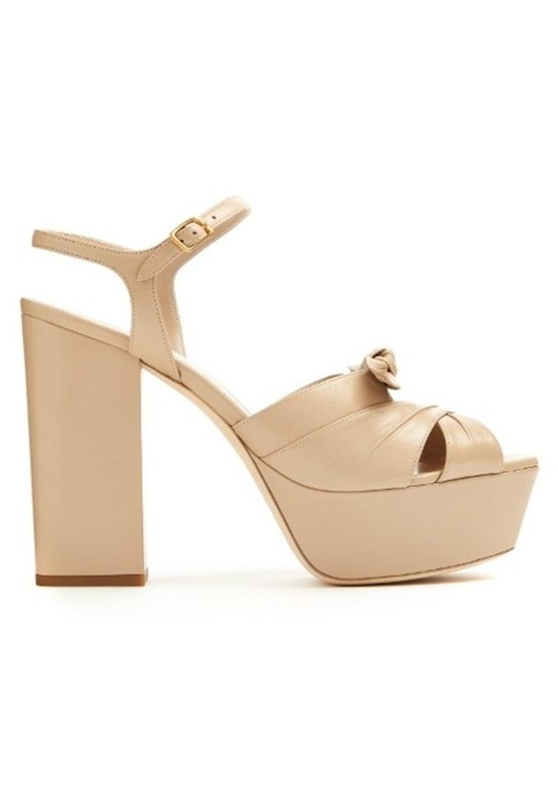 e15d453005f9 Saint Laurent Saint Laurent Farrah leather platform sandals Now  447.00