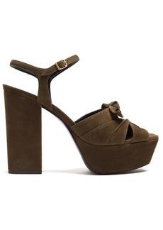 Yves Saint Laurent Saint Laurent Farrah suede platform sandals