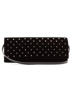 Yves Saint Laurent Saint Laurent Fetish crystal-embellished velvet clutch