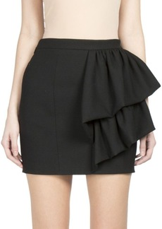 Saint Laurent Fitted Skirt with Side Ruffles