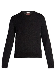 Yves Saint Laurent Saint Laurent Flamingo-intarsia mohair-blend sweater