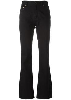 Yves Saint Laurent Saint Laurent flared raw edge jeans - Black