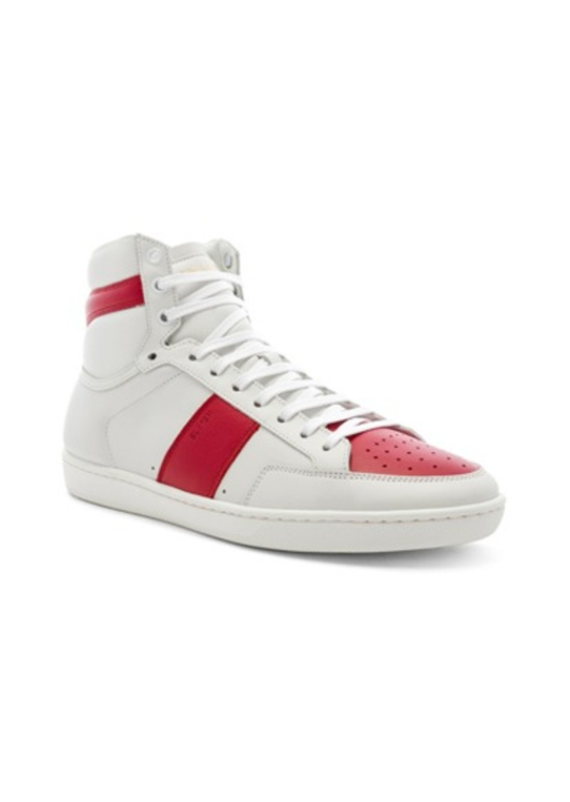 Yves Saint Laurent Saint Laurent Signature Court Classic SL/10H Leather Hi-Tops