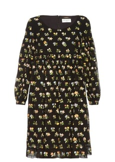 Yves Saint Laurent Saint Laurent Floral-embroidered dress