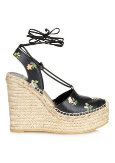 Saint Laurent Floral espadrille wedge sandals