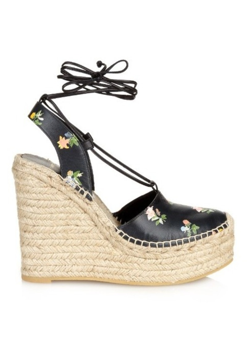 Yves Saint Laurent Saint Laurent Floral espadrille wedge sandals