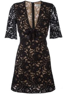 Yves Saint Laurent Saint Laurent floral lace cocktail dress - Black