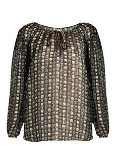Saint Laurent Floral-print georgette blouse