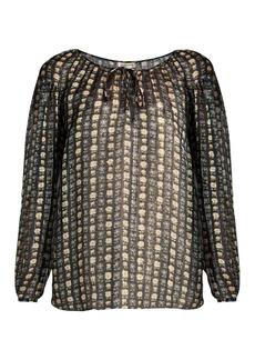 Yves Saint Laurent Saint Laurent Floral-print georgette blouse