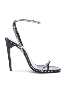 Yves Saint Laurent Saint Laurent Freja Crystal Embellished Ankle Strap Heels