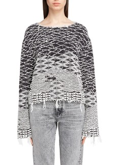 Yves Saint Laurent Saint Laurent Fringe Jacquard Sweater