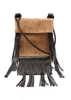 Yves Saint Laurent Saint Laurent Fringed-leather suede cross-body bag