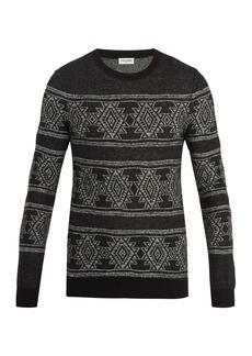 Yves Saint Laurent Saint Laurent Geometric intarsia-knit sweater
