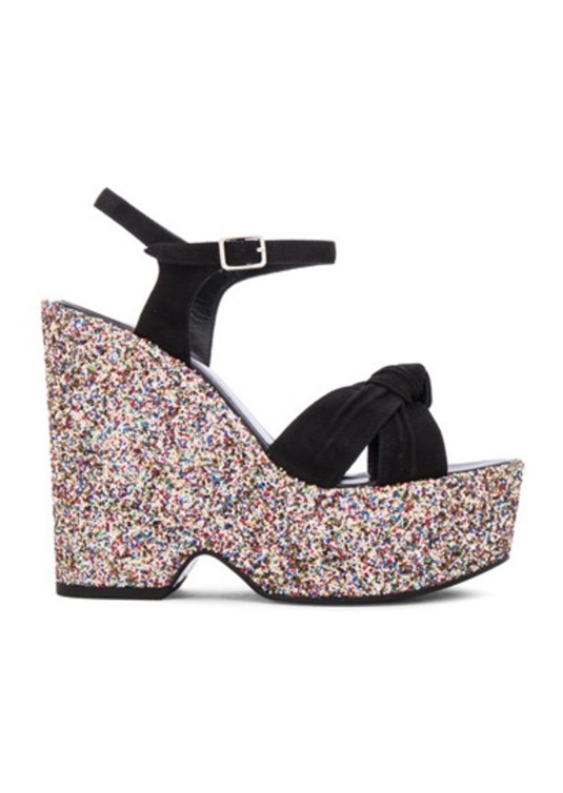 Saint Laurent Glitter Candy Sandals