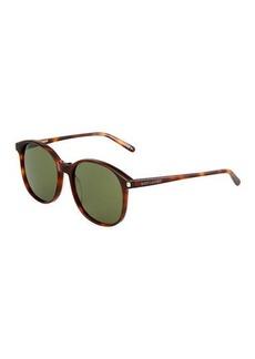Yves Saint Laurent Saint Laurent Havana Round Acetate Sunglasses