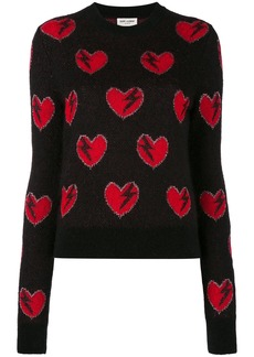 Yves Saint Laurent Saint Laurent heart and lightning sweater - Black