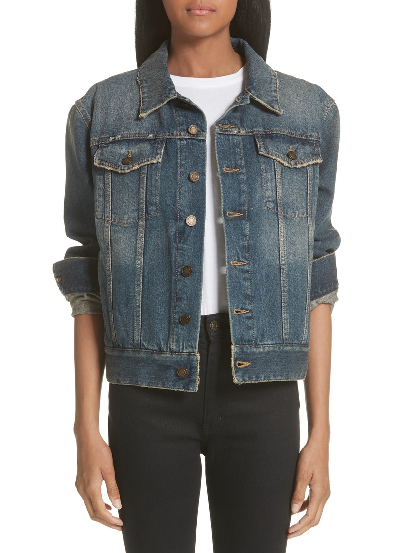 big collection deft design wholesale Heart Cutout Boyfriend Denim Jacket