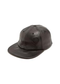 Saint Laurent Heart-detail leather cap