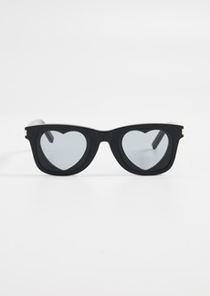 Saint Laurent Heart Lens Sunglasses