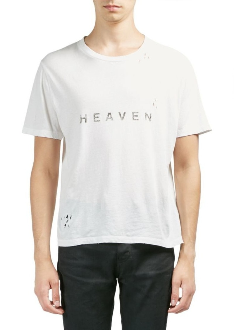 44c54254c4b Yves Saint Laurent Heaven Distressed Cotton Tee | T Shirts