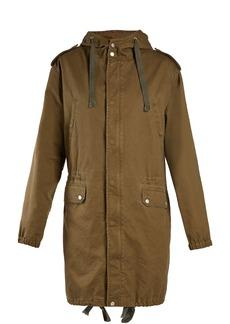 Saint Laurent High-neck drawstring-waist cotton-blend parka