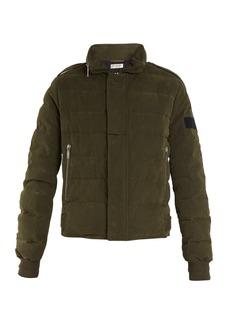 Saint Laurent High-neck quilted cotton-blend jacket