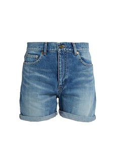 Yves Saint Laurent Saint Laurent High-rise denim shorts