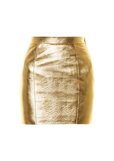 Yves Saint Laurent Saint Laurent High-rise leather mini skirt