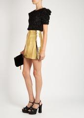 Yves Saint Laurent Saint Laurent High-rise leather mini skirt