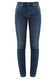 Saint Laurent High-rise skinny-leg corduroy trousers