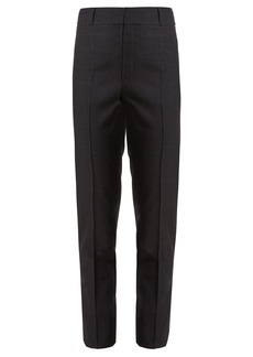 Saint Laurent High-rise slim-leg wool cropped trousers