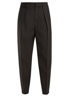 Saint Laurent High-rise tapered-leg wool trousers