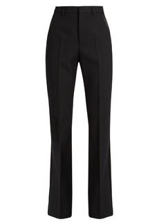 Saint Laurent High-rise wool-crepe tuxedo trousers