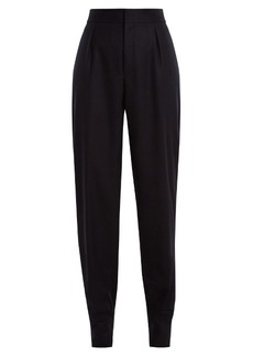 Saint Laurent High-rise wool-flannel trousers