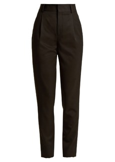 Saint Laurent High-rise wool slim-leg trousers