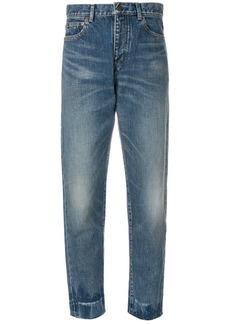 Yves Saint Laurent Saint Laurent high waist boyfriend jeans - Blue