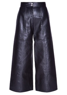 Saint Laurent High-waisted leather culottes