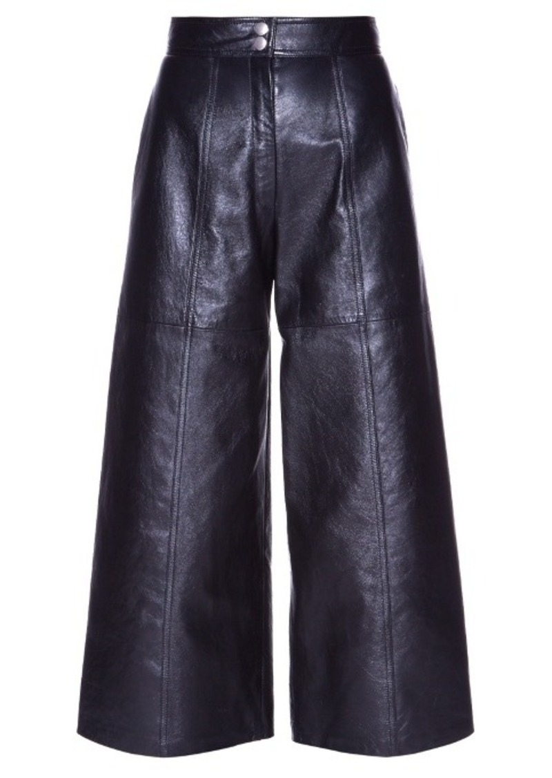 Yves Saint Laurent Saint Laurent High-waisted leather culottes