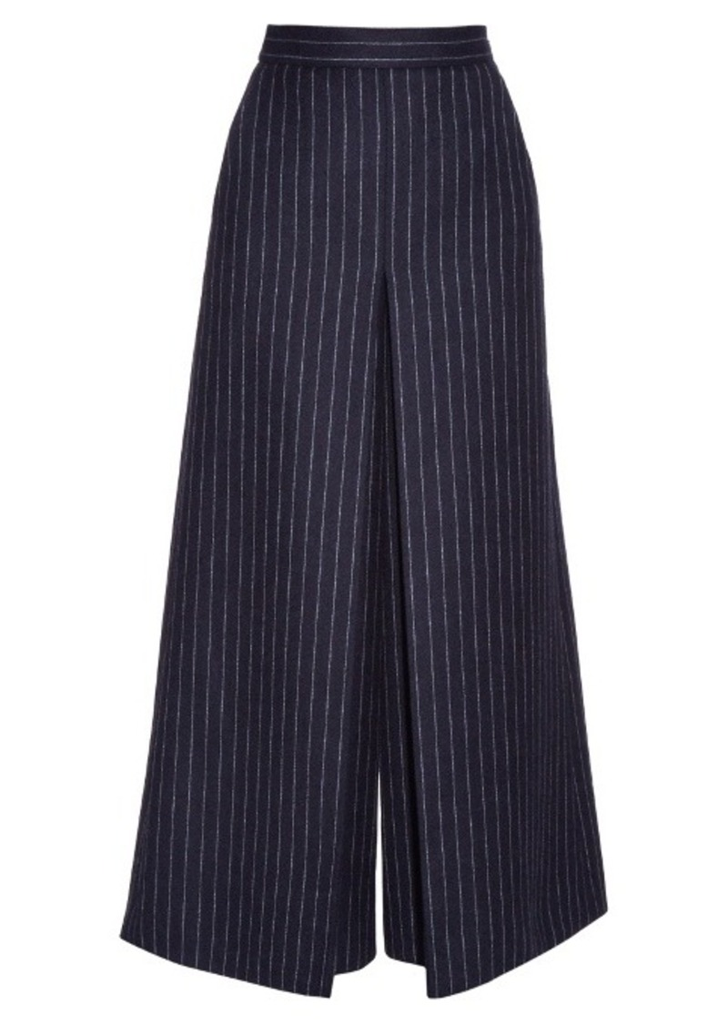 Yves Saint Laurent Saint Laurent High-waisted pinstriped culottes