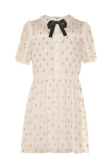 Yves Saint Laurent Saint Laurent Ice cream-embroidered georgette dress