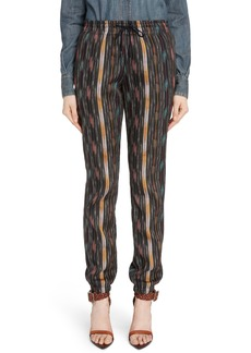 Saint Laurent Ikat Cotton & Silk Joggers