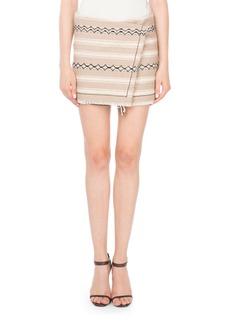Yves Saint Laurent Saint Laurent Ikat-Printed Wool Wrap Skirt