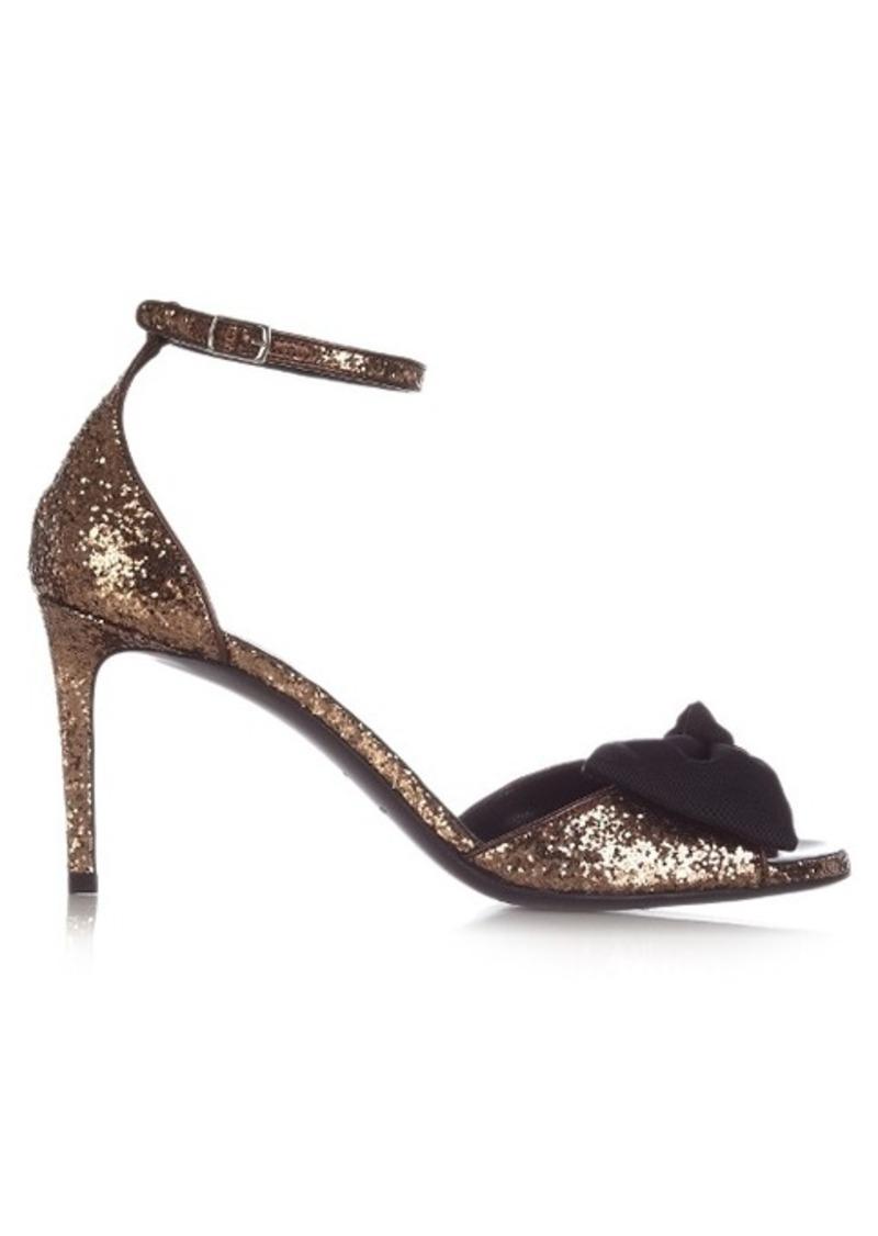e03d1b4ec43 Saint Laurent Saint Laurent Jane bow-detail glitter sandals